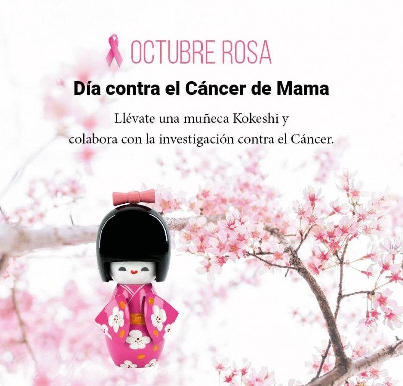 Octubre Rosa, colabora contra el cáncer de mama.