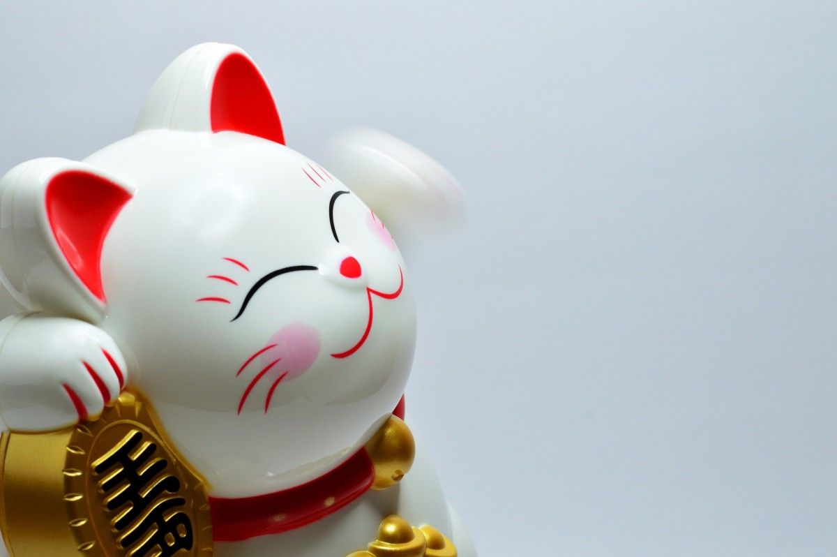 Maneki-neko, the Japanese fortune cat