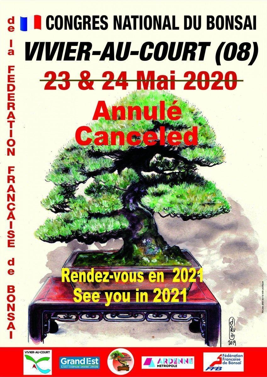 Annulation du Congrès 2020 de la Fédération Française de bonsaï